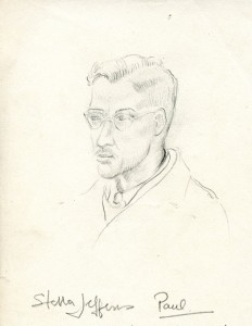 Drawn by his wife immediately after their marriage in 1948