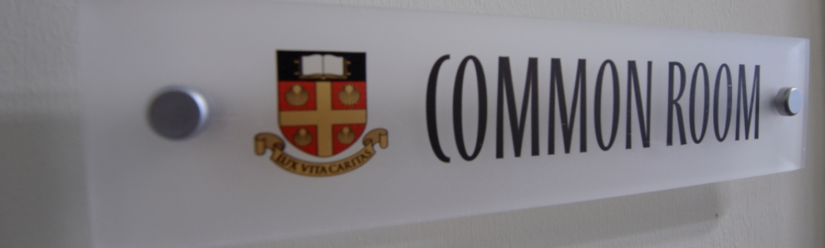 Common Room sign